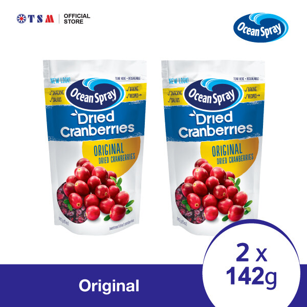 OCEAN SPRAY CRAISINS   142G - ORIGINAL X 2 PACKS