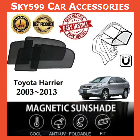 Toyota Harrier 2003-2013 Magnetic Sunshade [6 PCS]