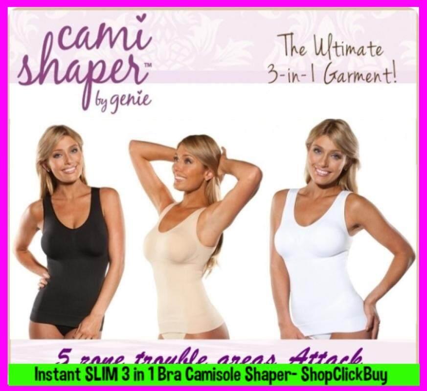 [MALAYSIA READY STOCK- High Quality]-  3 IN 1 Camisole Cami Women Instant Slim Bra