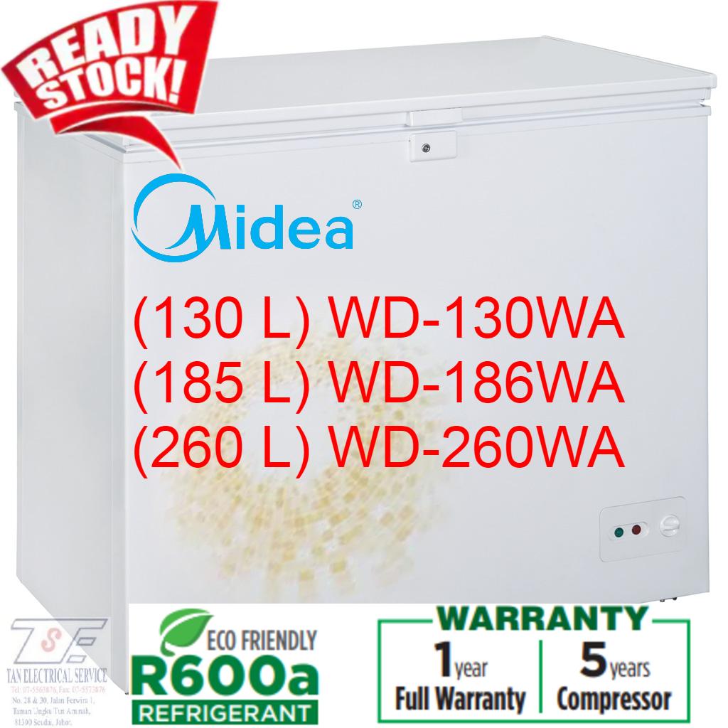 Midea 130L/186L/260L Chest Freezer WD-130WA/WD186WA/WD260WA