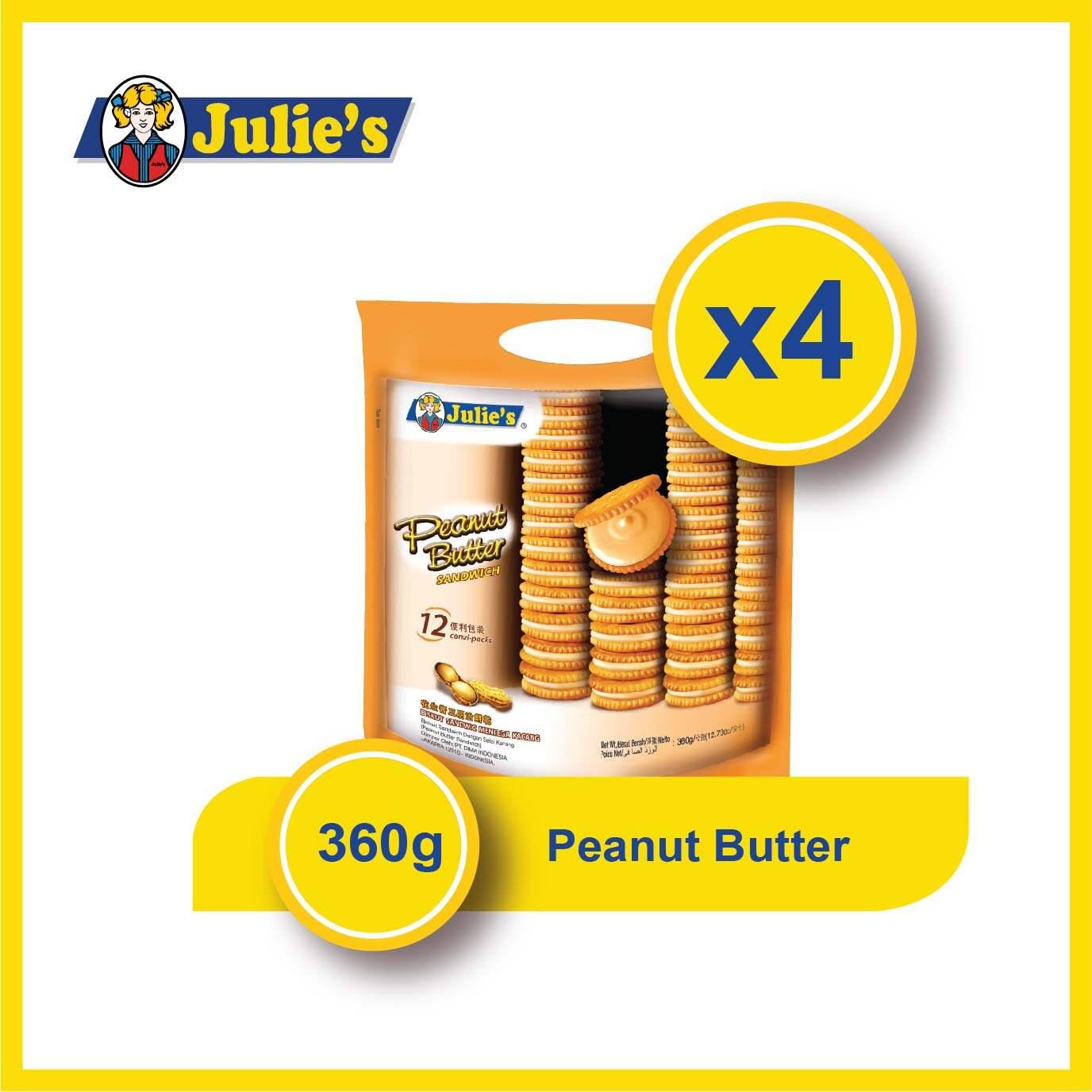 Julies Peanut Butter Sandwich 360g x 4 packs