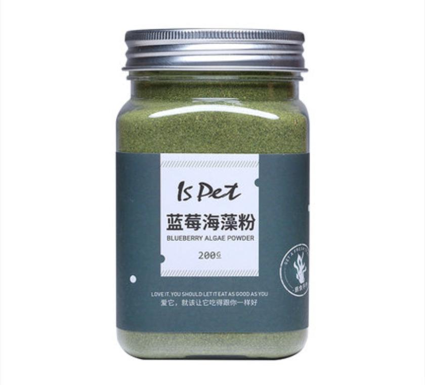 Is Pet Blueberry & Seaweed Powder / Kelp Powder / Algae Powder Pet Dog Supplement & Nutrition 200g 宠物营养蓝莓海藻粉