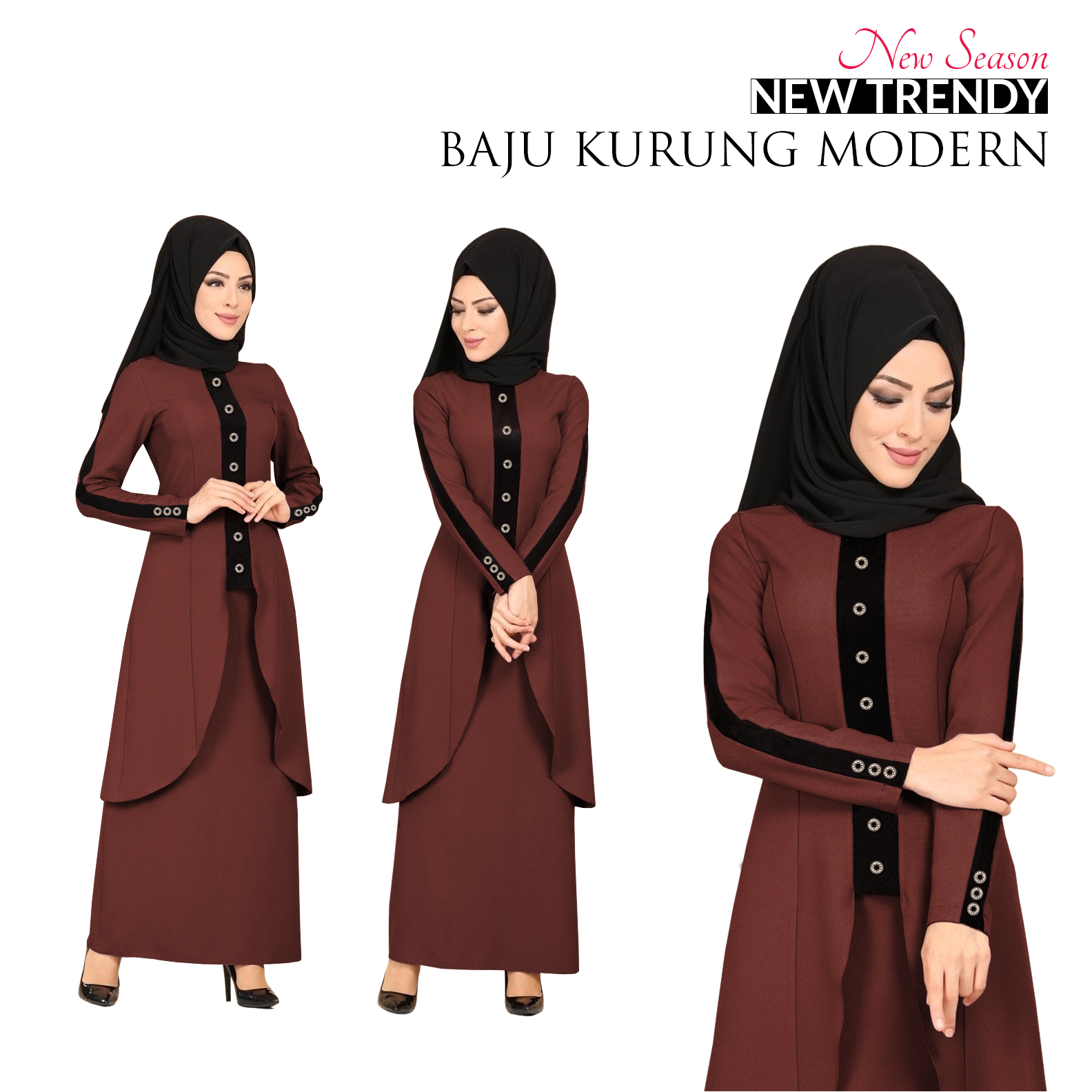 Harga New Season Trendy Baju Kurung Modern for Muslimah  READY STOCK  HOT ITEM 2020