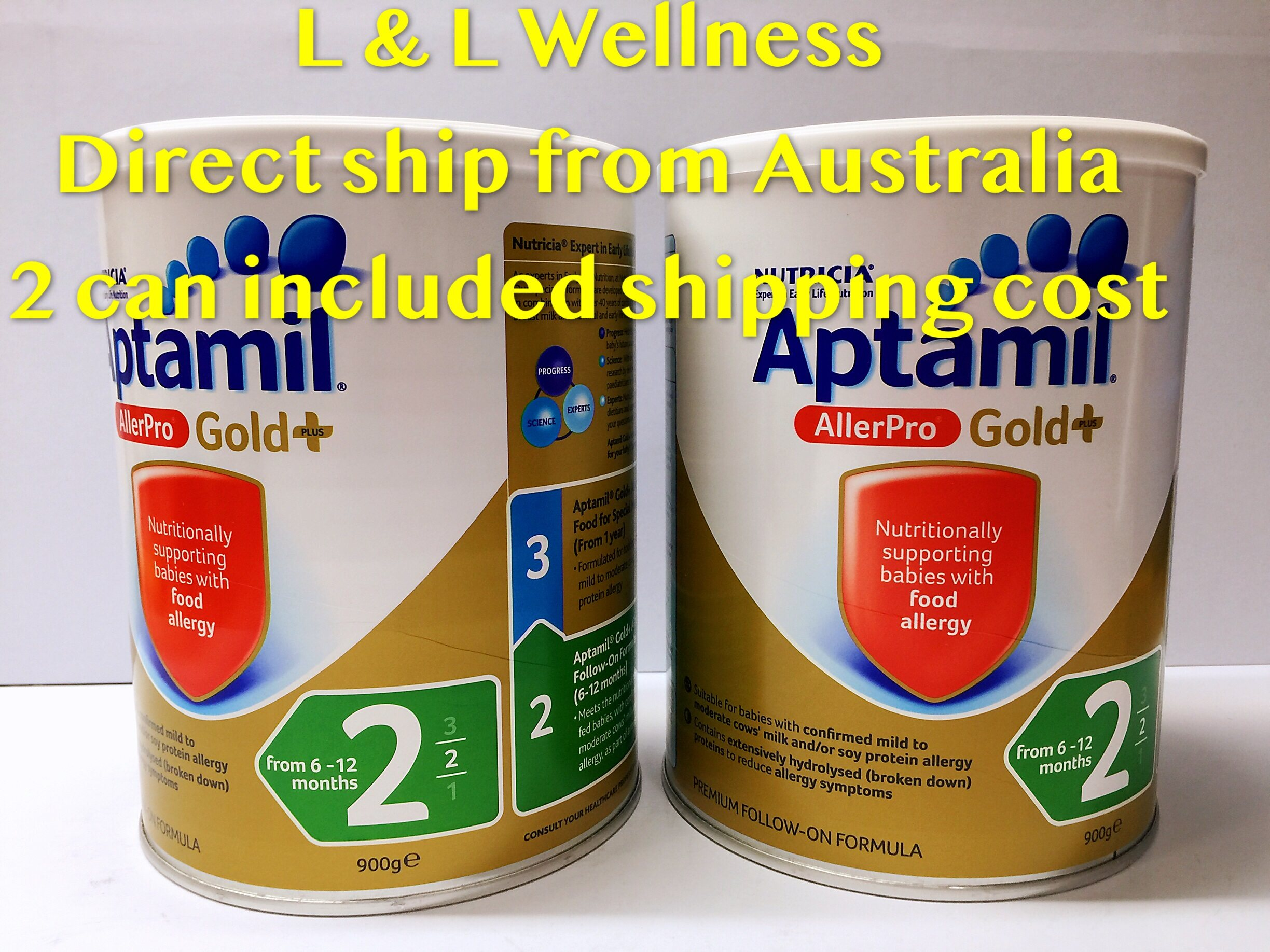 [Pre Order] Australia import Apt amil Gold+ AllerPro Follow-On Step 2 ( 6-12 Months ) 900g Twin Pack