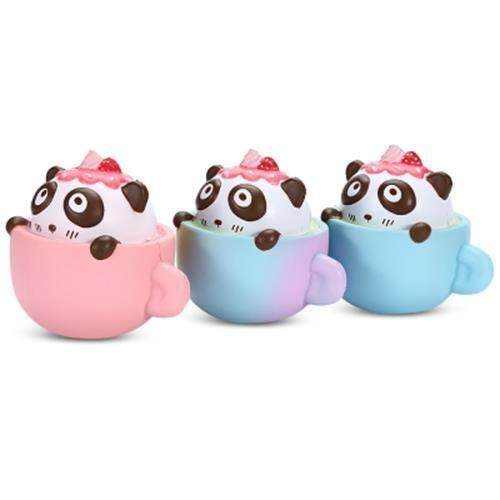 SQUISHYFUN PU SLOW RISING SIMULATE CUTE PANDA COFFEE CUP TOY (PINK) Toys for boys