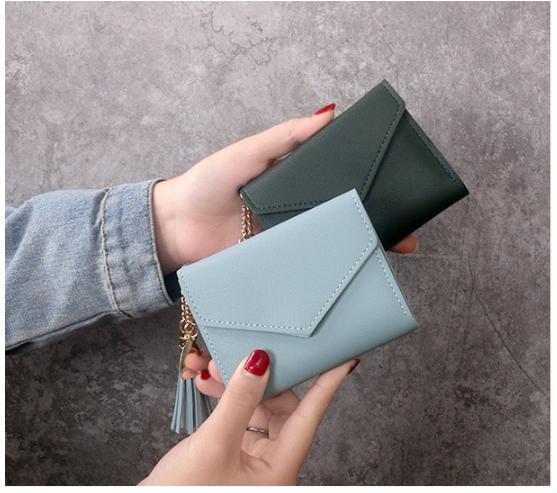 Women Purse Fashion Korean Leather Wallet Purse Zip Card Holder