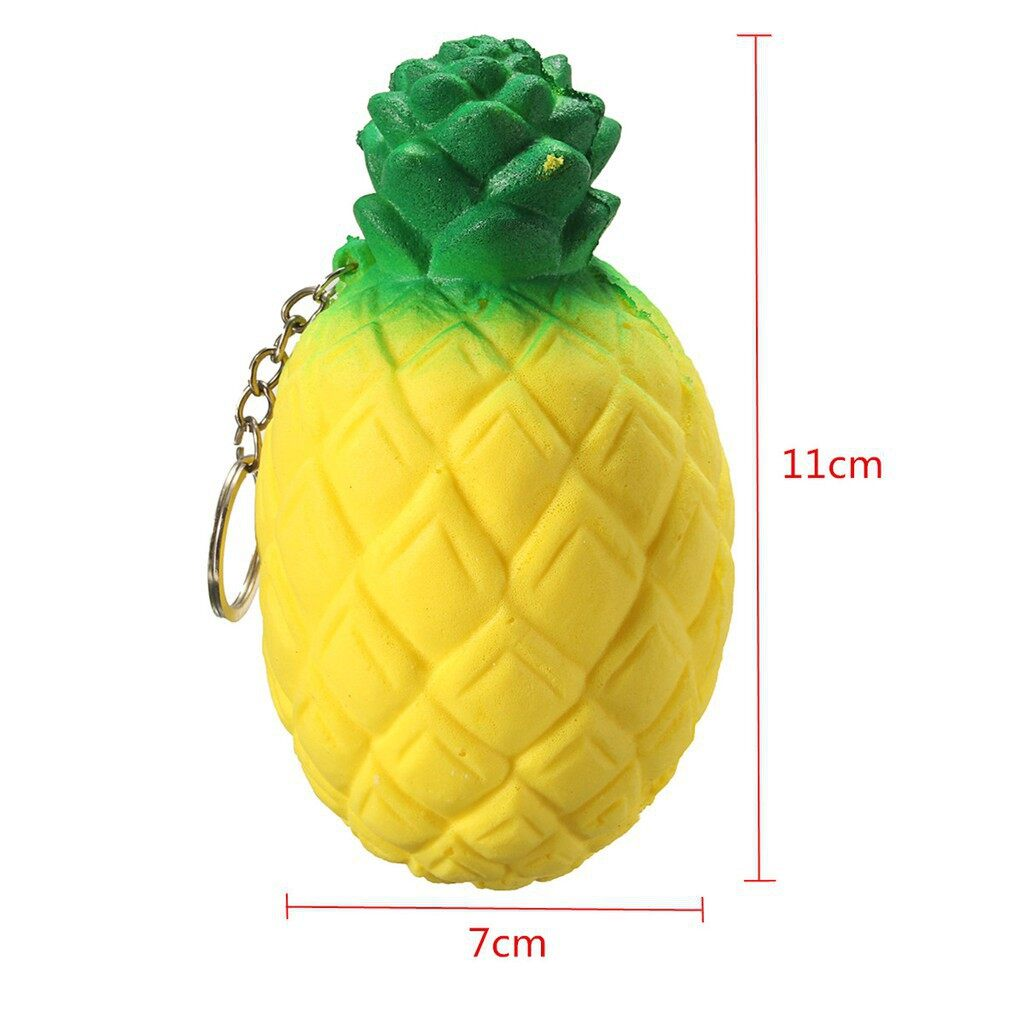 Cool Gadgets - 13cm Squishy PineApple Scented Squeeze Slow Rising Fun Relieve Stress Toy Gif - Mobile & Accessories