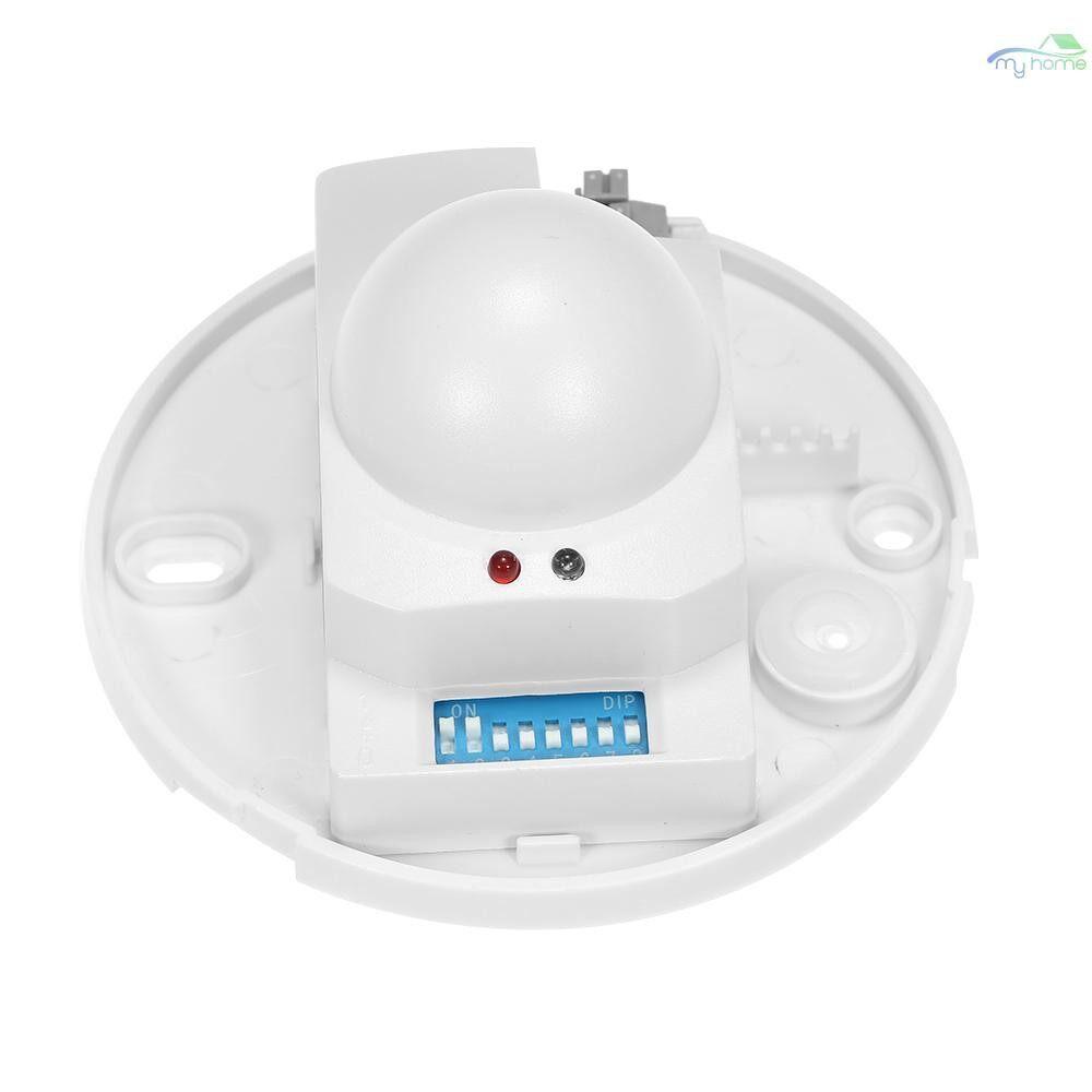 DIY Tools - AC220-240V Microwave Radar Sensor Light Switch Ceiling Occupancy PIR Body Motion Detector 360 - WHITE