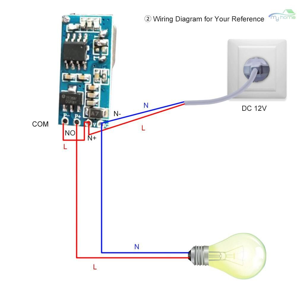 DIY Tools - 433Mhz DC 5-18V Universal Receiver Module RF Remote Control Switch Relay 1CH MINI WIRELESS Control - Home Improvement