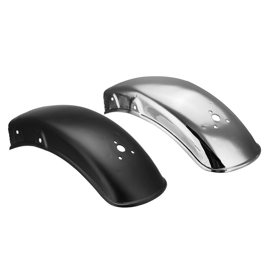 Moto Accessories - Universal Motorcycle Rear Fender Mudguard Fairing Mug Guard Fits Suzuki GN125 - SLIVER / BLACK