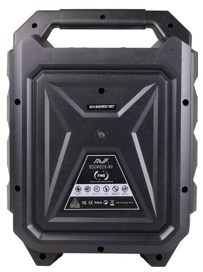 AVF Boombox-MX Portable Bluetooth Speaker (BOOMBOX-MX), Karaoke Function, True Wireless Stereo, LED Effect, 1200mAh Battery