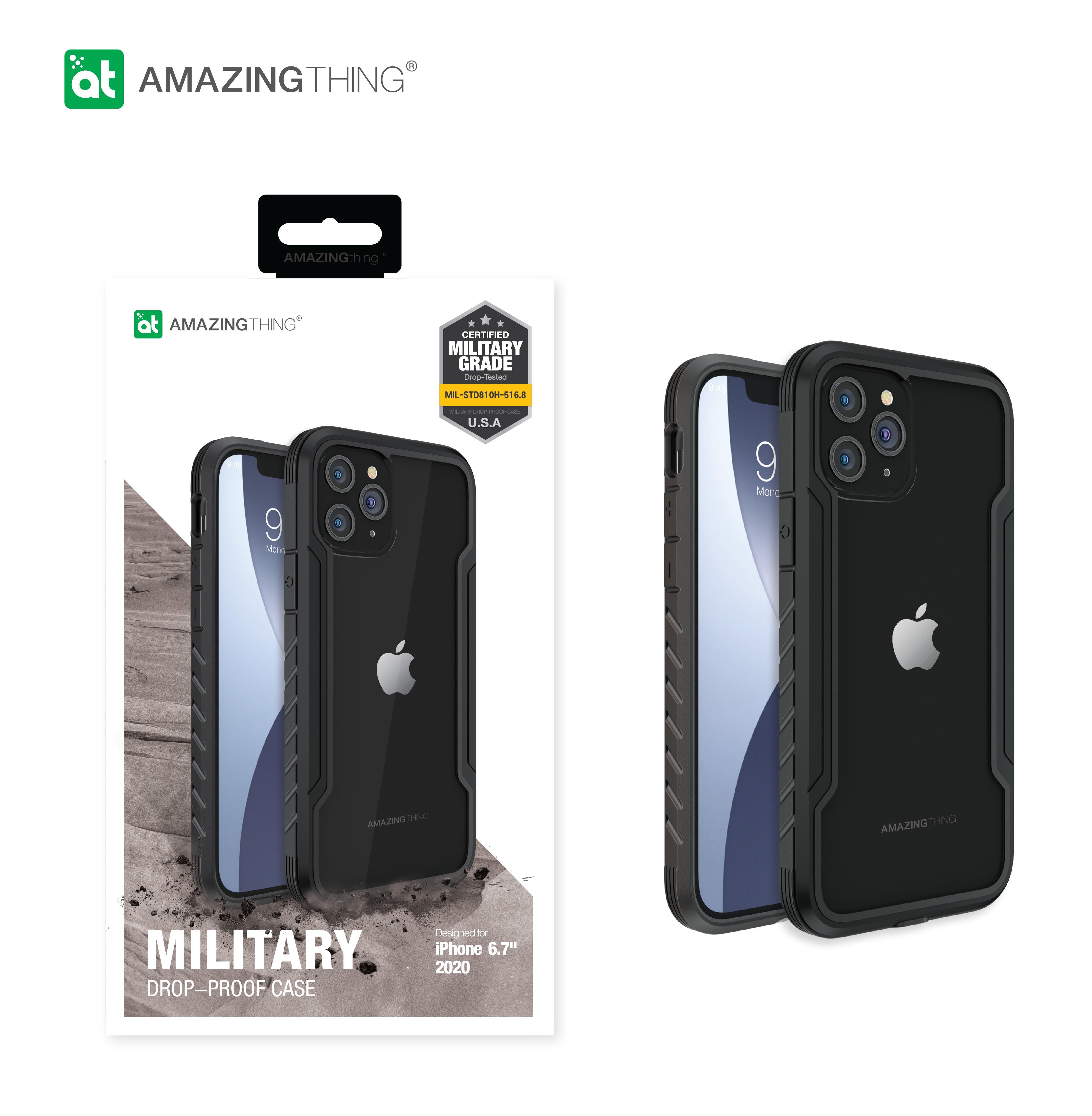 AMAZINGthing CASE Apple iPhone 12 Pro Max CASE Military Drop proof