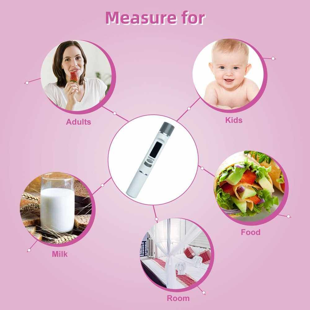 Mini Portable Non-Contact Infrared Thermometer 1S Quick Measurement Body / Room / Objects' Surface 3 Temperature Modes Home/Office/Traval Use for Baby Adult ( Deliver without Battery) (Standard)