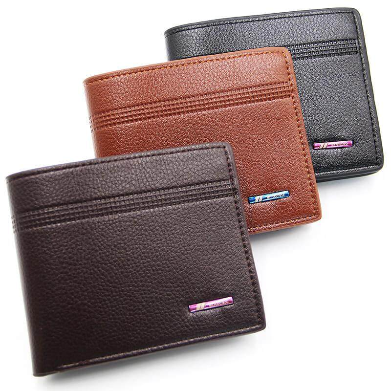 [M\'sia Warehouse Direct] 2020 Korean Series Men\'s Fashion Wallet Bi-Fold Fengshui Wallet Europe Designer Perfect Gift (Come With Box) Clutch Card Coins Cash Slot With Zip Portable Hand Carry Bag Luxury Top Material Genuine Leather Halal Dompet Kulit