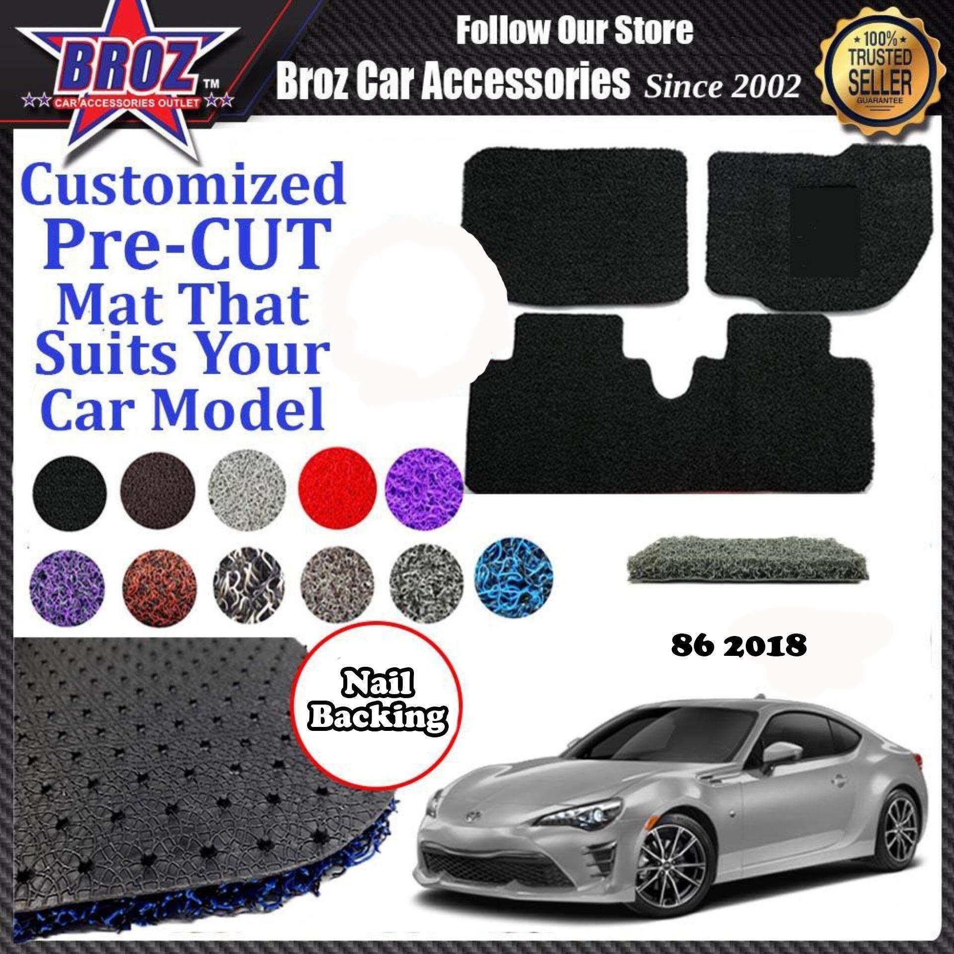 86 12MM Nail Spike Customized PRE CUT Carpet Car Karpet Car Coil Floor Mat with Driver Rubber Pad [3pcs]