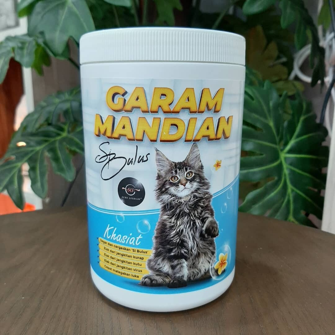 Garam Mandian Si Bulus Kucing Mandian Kucing Cat bath
