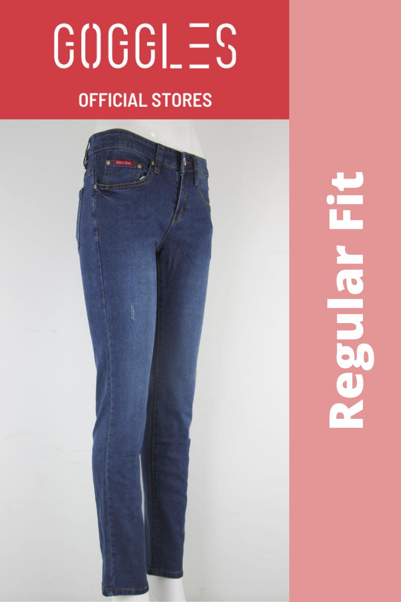 GOGGLES Ladies Denim Jeans Regular Fit Dark Blue 100361