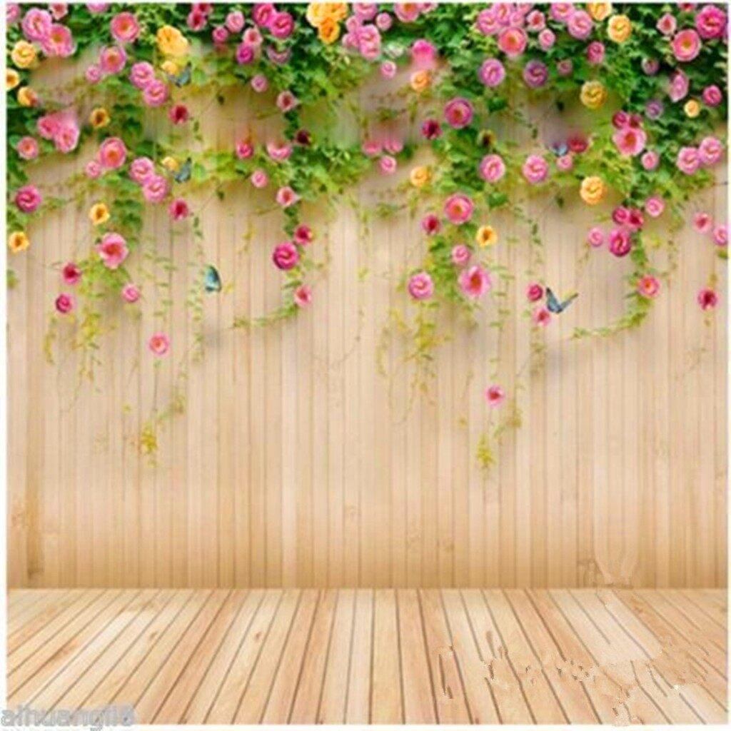 Lighting and Studio Equipment - 3x5ft Flower Wood Wall Vinyl Photography Model Backdrop Background Studio Props - Camera Accessories