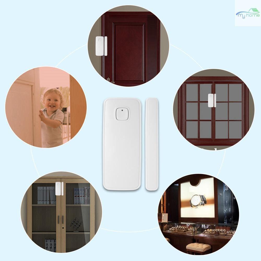 Sensors & Alarms - WIFI Door Sensor Tuya APP Control Door Window Opening Security Alarm Sensor Magnetic Switch - WHITE-4 PIECE(s) / WHITE-2 PIECE(s)