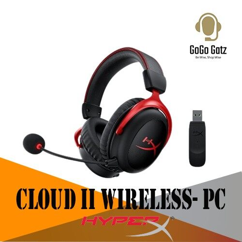 {HHSC2X-BA-RD/G}{Ship Out Within 24 Hours} HyperX Cloud II Wireless Pro Gaming Headset with 7.1 Surround Sound - PC