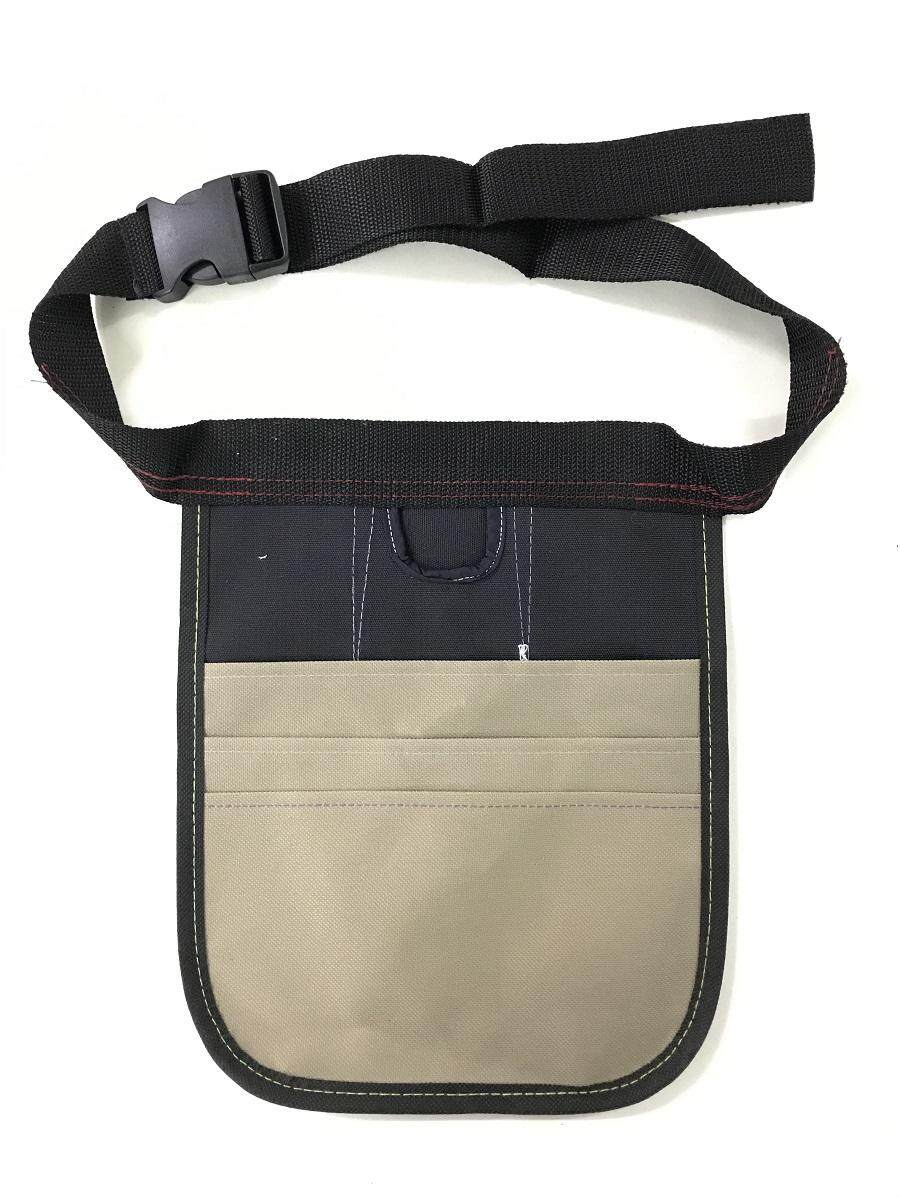 3 Layer Canvas Carpenter Nail and Tool Bag with Large Clip