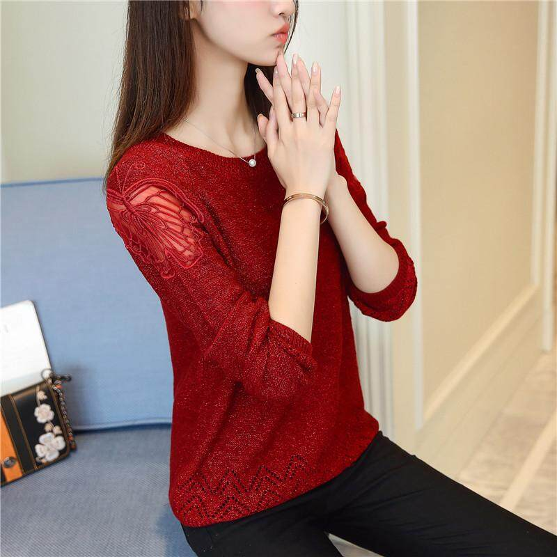 (Pre Order14 Days JYS Fashion Korean Style Women Knit TopCollection526-8716col525a-8716--Wine Red-S
