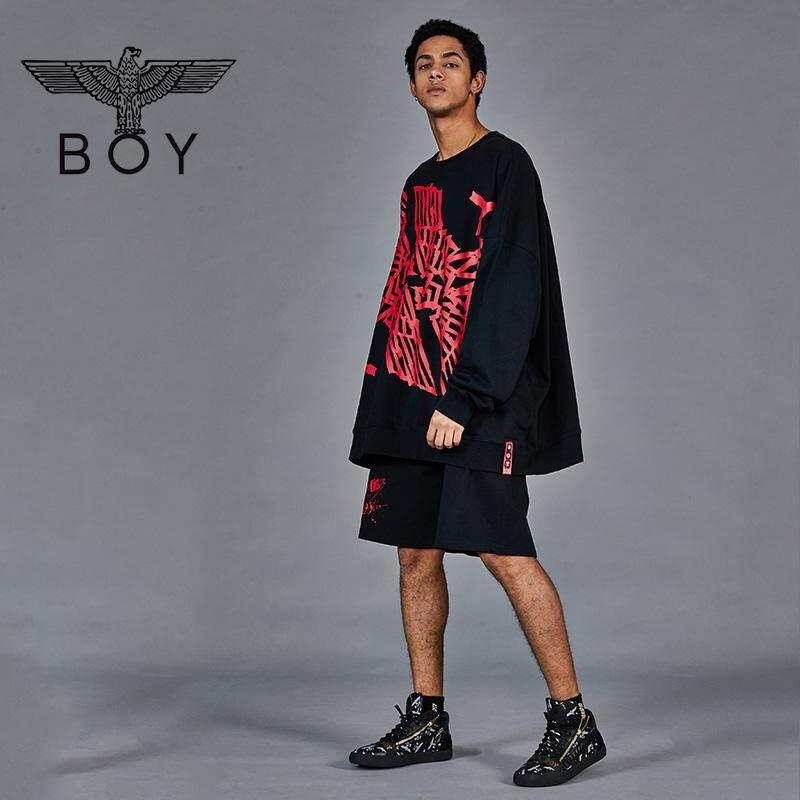 BOY LONDON_Sweatshirt Men 2019 New Big Eagle Print Round Neck Top B191NB206902