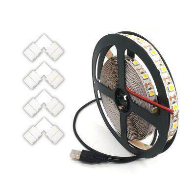 ZDM 1-3.5M USB 5V 5050 TV Flexible Strip and L Type LED Strip Connector (COOL WHITE)