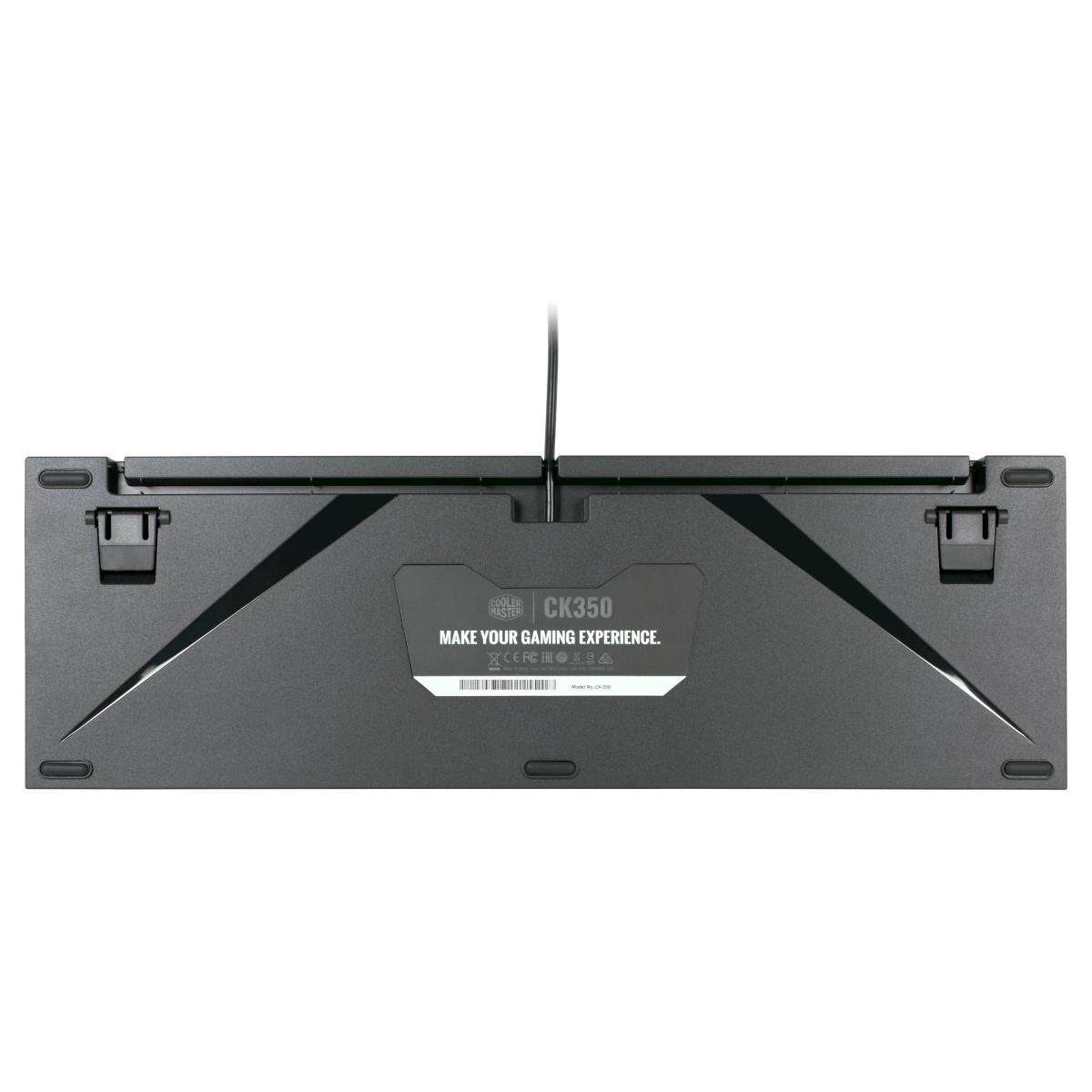 Cooler Master CK350 RGB Mechanical Gaming Keyboard with Brushed Aluminum Design (Full Layout / 108 Keys)