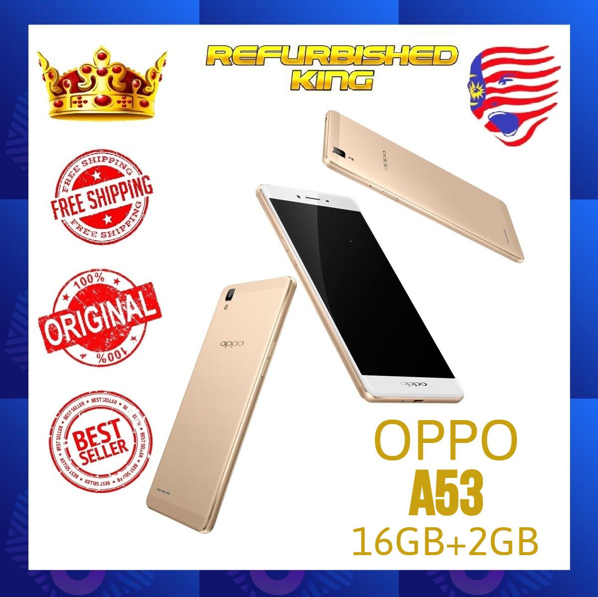 Original Oppo A53 [16GB + 2GB RAM] Dual Sim + FREE Tempered Glass Installed & FREE RM50 Voucher Small