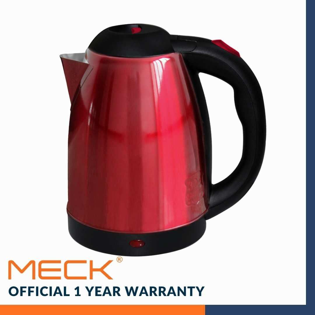 **READY STOCK** MECK Kettle Cordless 1.8L (304 Stainless Steel) MJK-18SS (RED) MJK-18SS(RED)