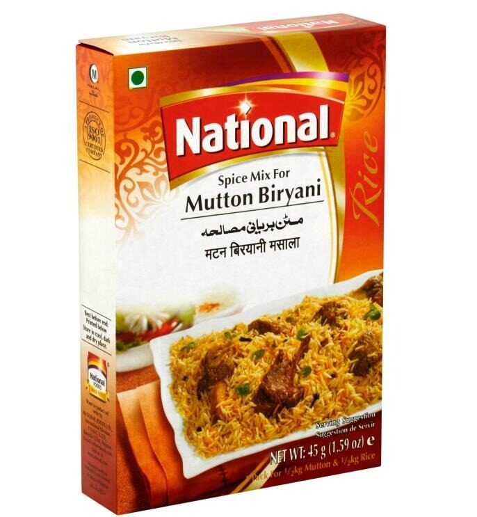 NATIONAL MUTTON BIRYANI MASALA 45 GM