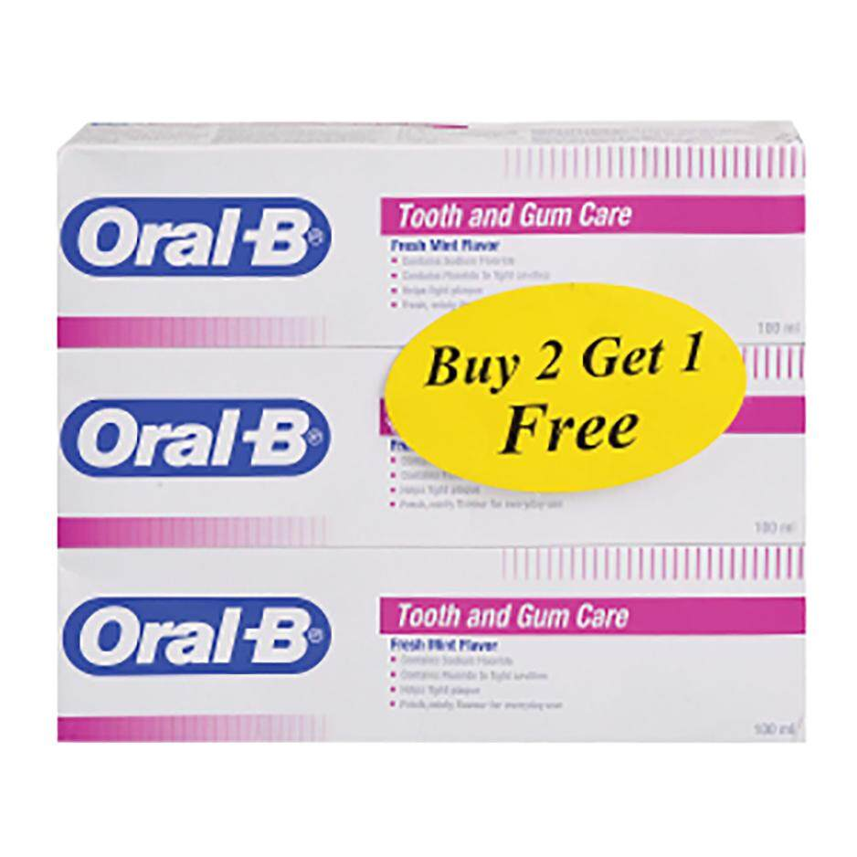 ORAL B TOOTH & GUM TOOTHPASTE 100ML B2F1