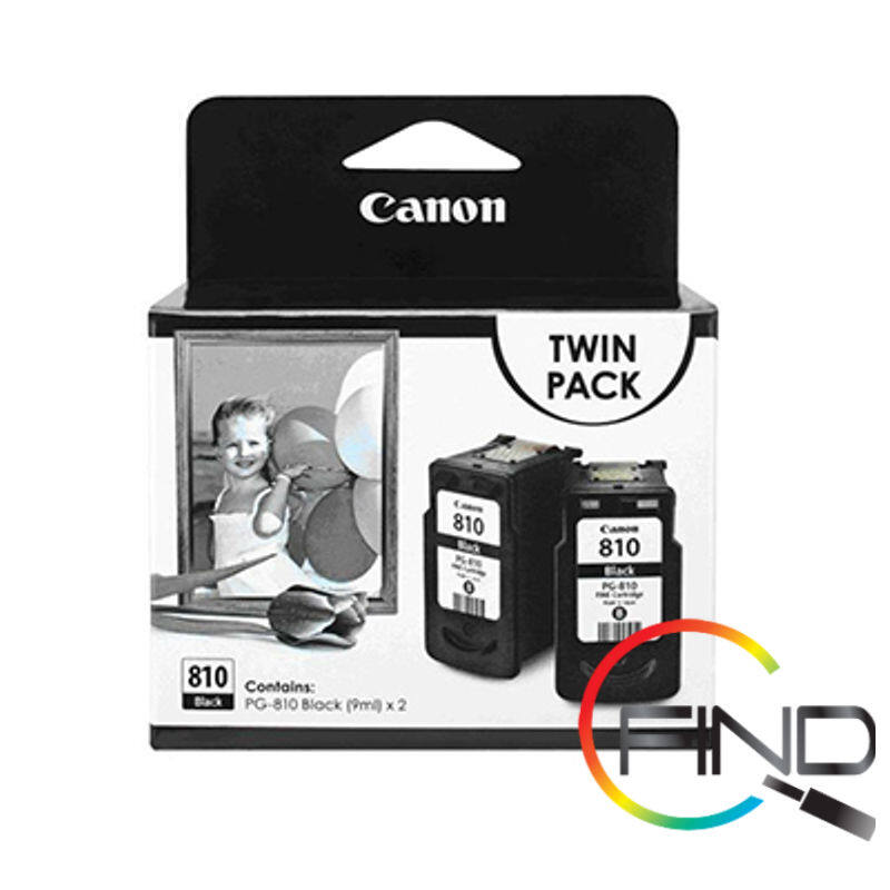 CANON PG-810 BLACK CARTRIDGE (TWINPACK) for iP2770/2772, MP245/237/258/287/486/496/497, MX328/338/347/357/366/416/426 Printer