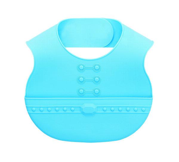 Easy Care Crumb Catcher Baby Bib - Blue ZK-18014