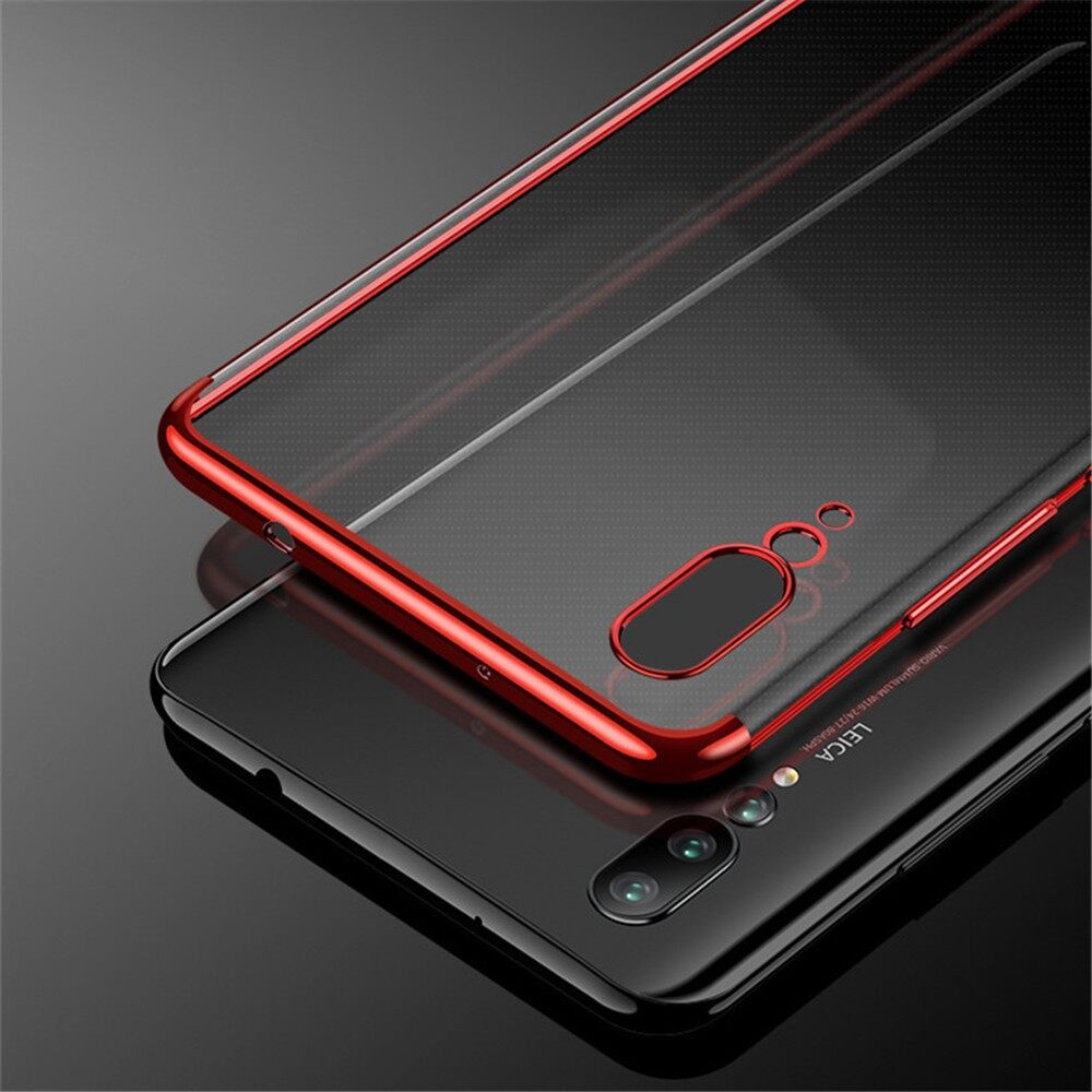 iPh Soft Cover - Plating Soft TPU Back Cover Protective Case for Huawei P20 Pro - Cases & Covers