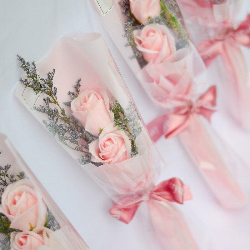 2 stalk Soap rose flower bouquet mix dried flower   Birthday   Valentine   Christmas   Mother's day   Anniversary