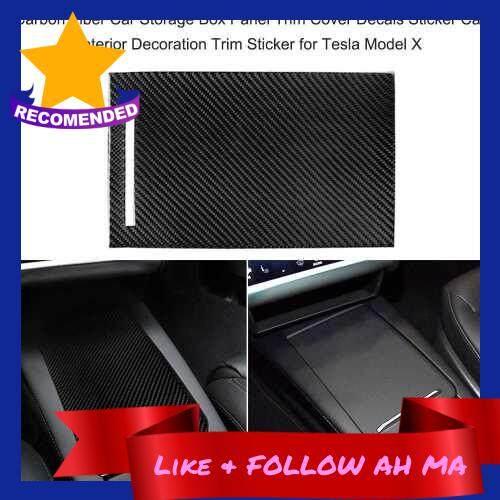 Best Selling Carbon Fiber Car Storage Box Panel Trim Cover Decals Sticker Car Interior Decoration Trim Sticker for Tesla Model X (Standard)