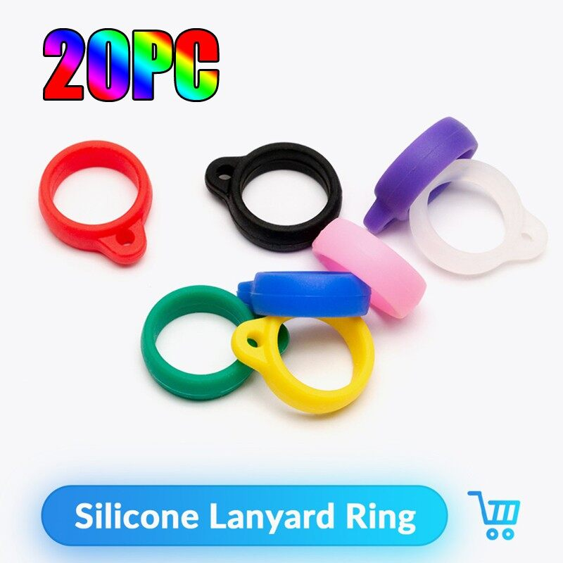 20pc Pod Juu Disposable Silicone Lanyard Ring EVOD Necklace Ring for EGO CE4 CE6 T2 T3 - BLACK-10PC-13MM / BLACK-10PC-20MM / BLACK-20PC-13MM / BLACK-20PC-20MM / BLACK-1 Piece-13MM / BLACK-5PC-20MM / WHITE-10PC-13MM / WHITE-10PC-20MM / WHITE-20PC-13MM