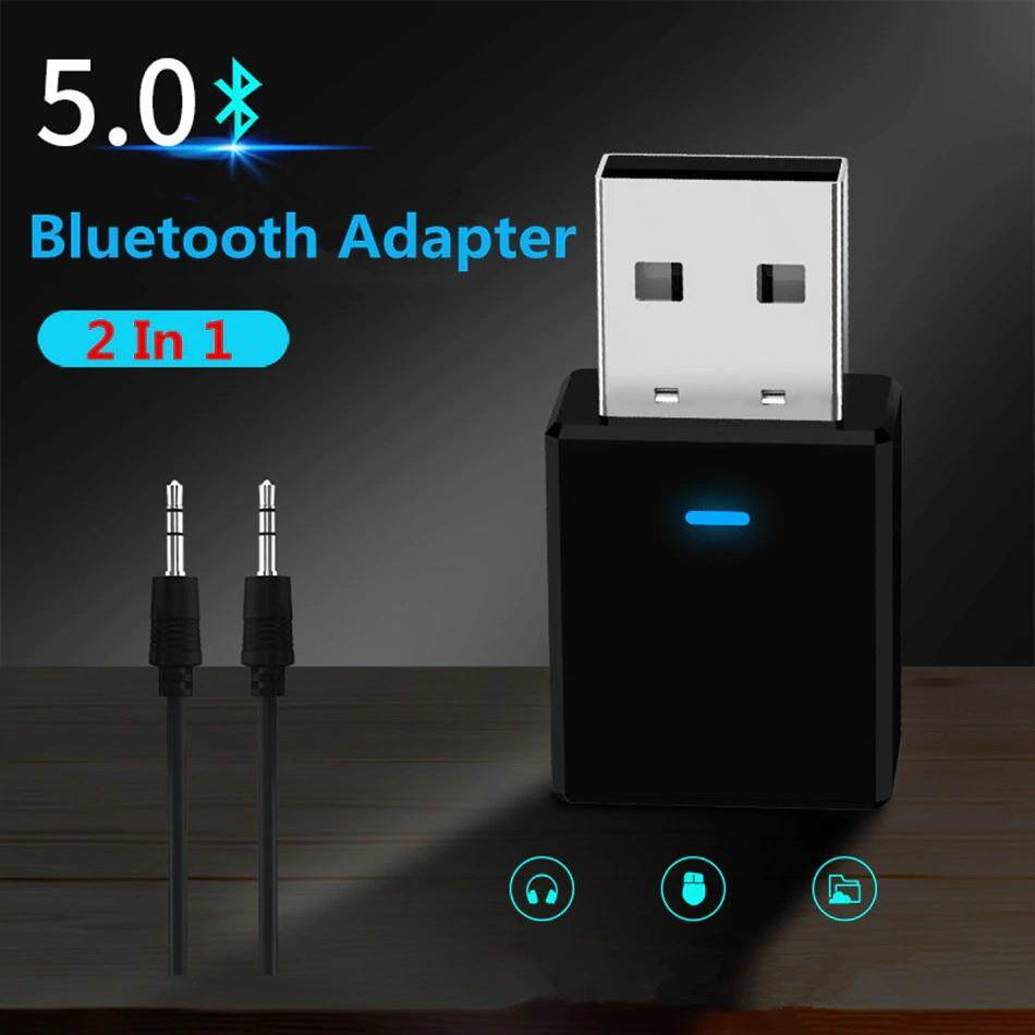 Adapters & Converters - BLUETOOTH Receiver Transmitter BLUETOOTH 5.0 Dongle AUX WIRELESS Adapter For TV PC Car Kit - Network Components