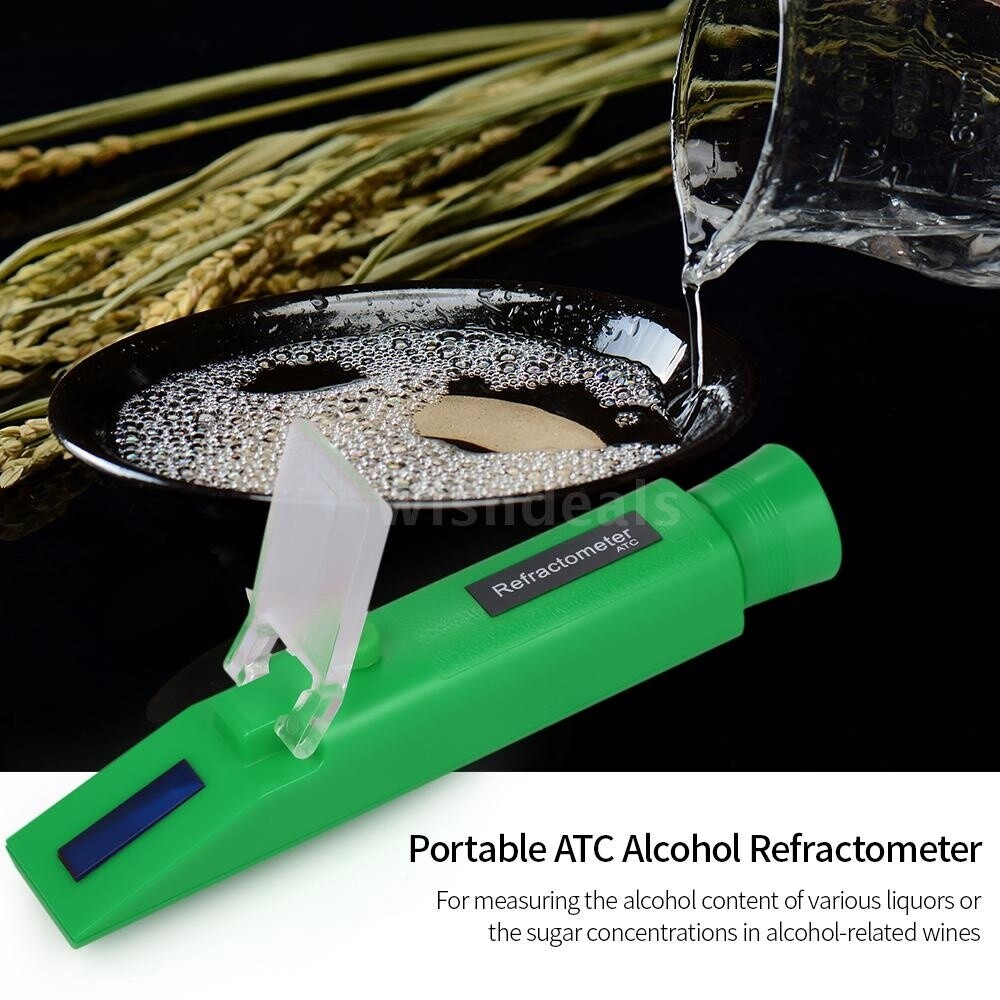 Gadgets - Professional PORTABLE Refractometer Handheld Refratometer Liquor Percent Tester with 0-80% - BLUE / BLACK / RED / GREEN