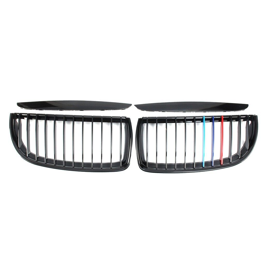Car Electronics - L + R kidney grill grille grill M color for BMW E90 Sedan Wagon 2005-2008 - Automotive
