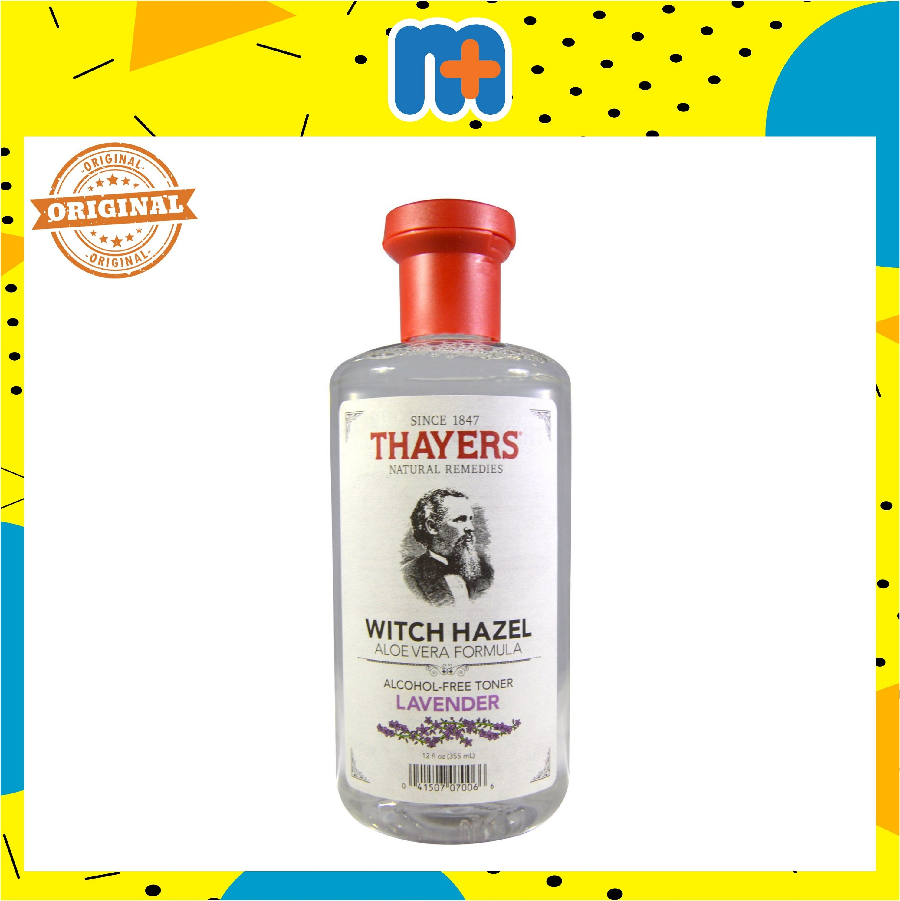 THAYERS ALCOHOL-FREE LAVENDER WITCH HAZEL TONER 355M