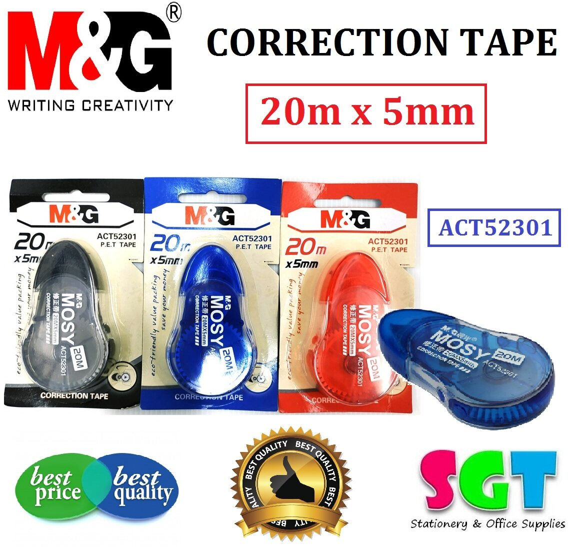 M&G Correction Tape 20m x 5mm - ACT52301 ( 1 PC Only )