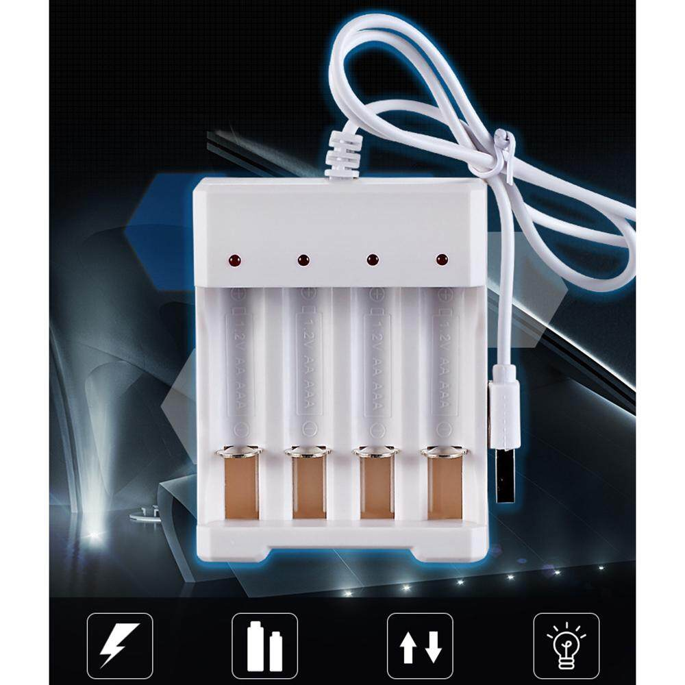DC5V 1A 1.2V 4 Slot AA/AAA Rechargeable Battery Charger Adapter USB Plug