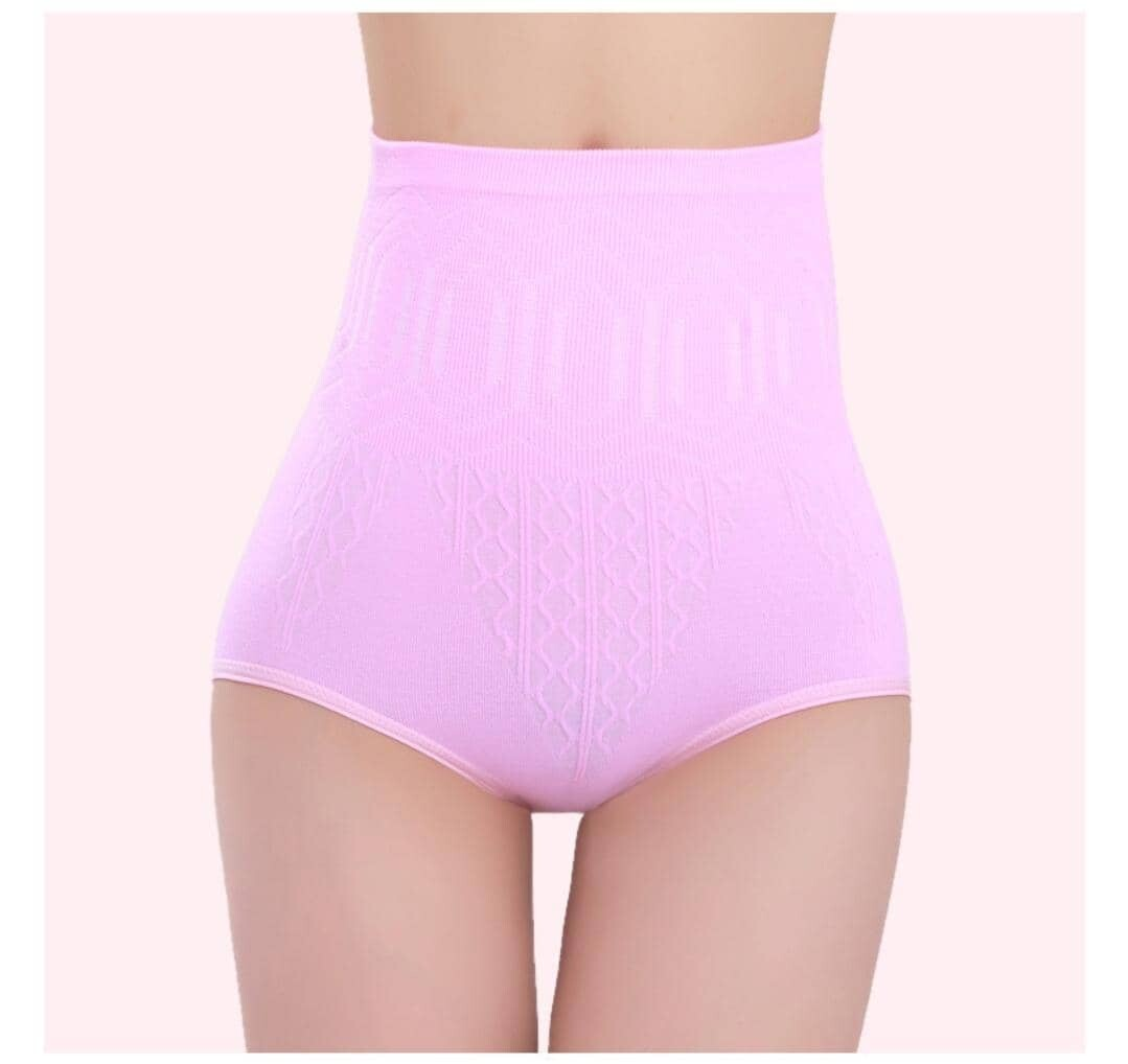 High Waist Flatten Tummy and Hips Lifting Panties Mix Color (Free Size)