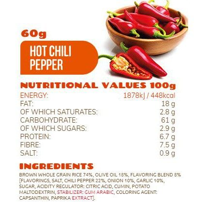 Rice Up Brown Rice Chips With Hot Chili Pepper 65G x2 - TWIN PACK