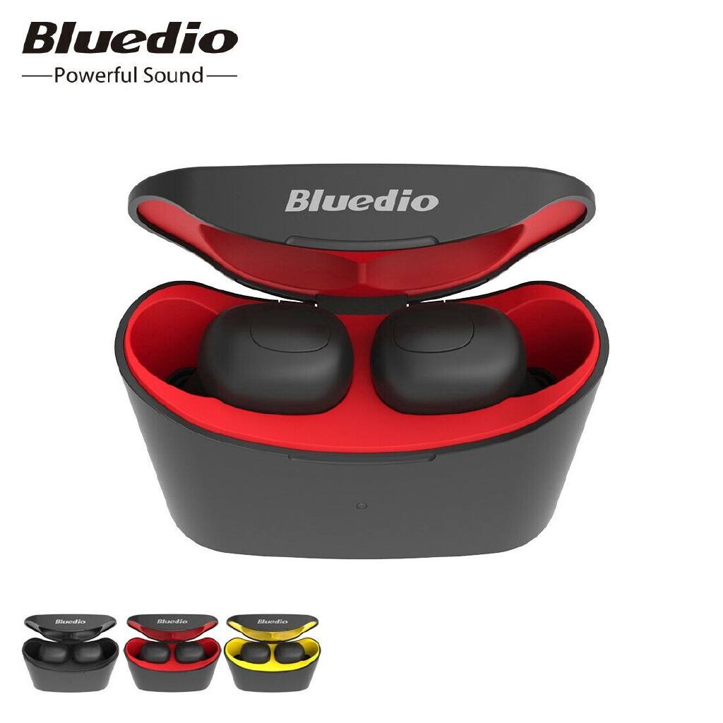 Bluedio T-elf MINI TWS Earbuds BLUETOOTH 5.0 Sports Head SET WIRELESS Earphone with Charging Box - BLACK / YELLOW / RED