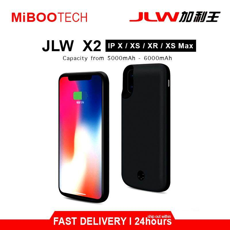 [Miboo] JLW Smart Charging Protective Battery Case 5000mAh - 6000mAh Powercase Born For iPhone X / XS / XS Max / XR (Local Warranty) - IPhone XR - 6000mAh
