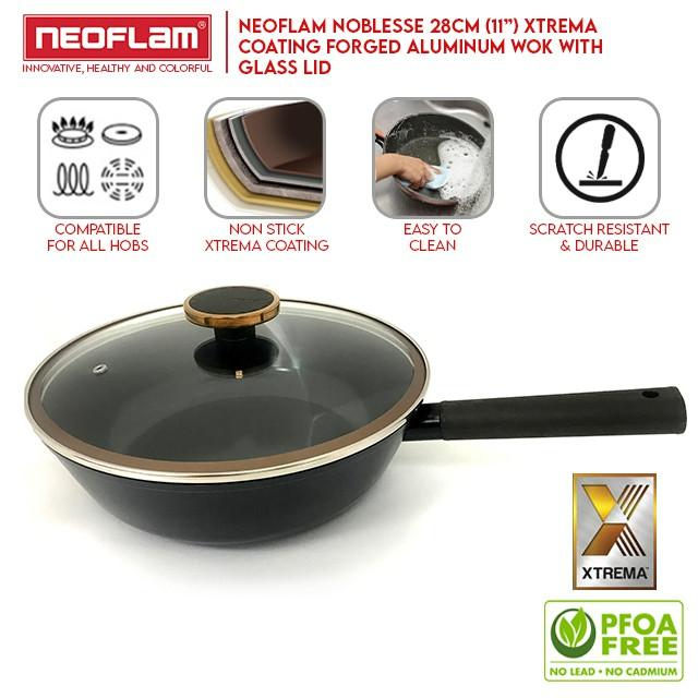 [My Cooking Story / MyCookingStory] Neoflam Noblesse Aluminium Wok IH Xtrema Coating (28cm)